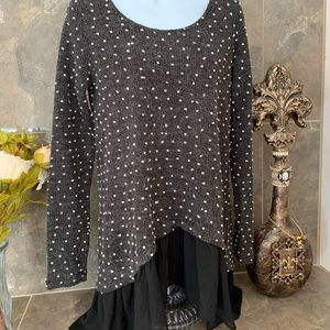 A'Reve wool look polka dot dress.  Small